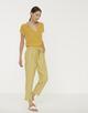 V-hals shirt Silvia mute mustard