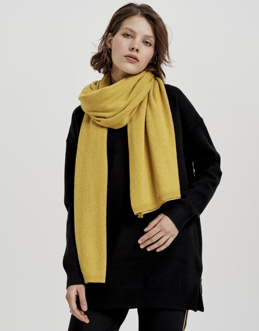Wollschal Acasha scarf mute mustard