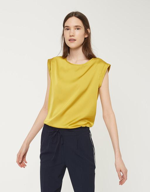 Shirtbluse Fabiole mute mustard