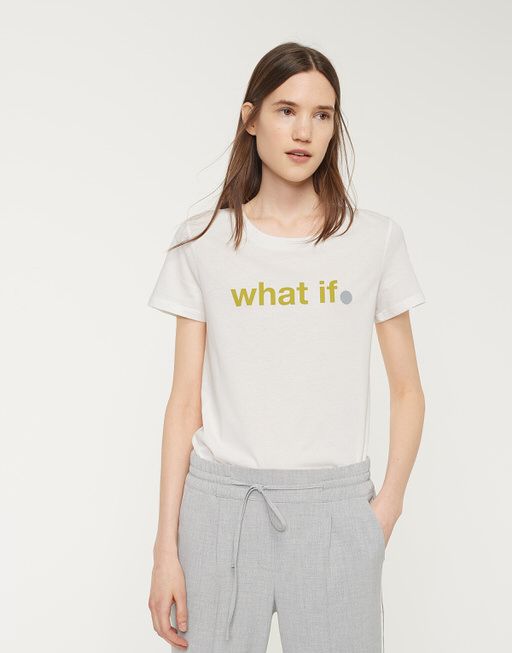 Shirt met print Santi Print SP mute mustard