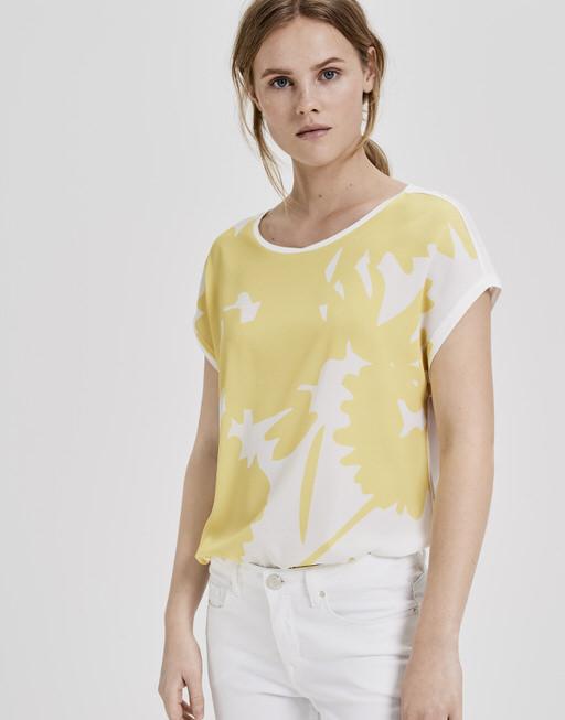 Print-Shirt Saflori print mellow yellow