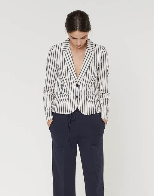 Kurzblazer Juris wide stripe dark night
