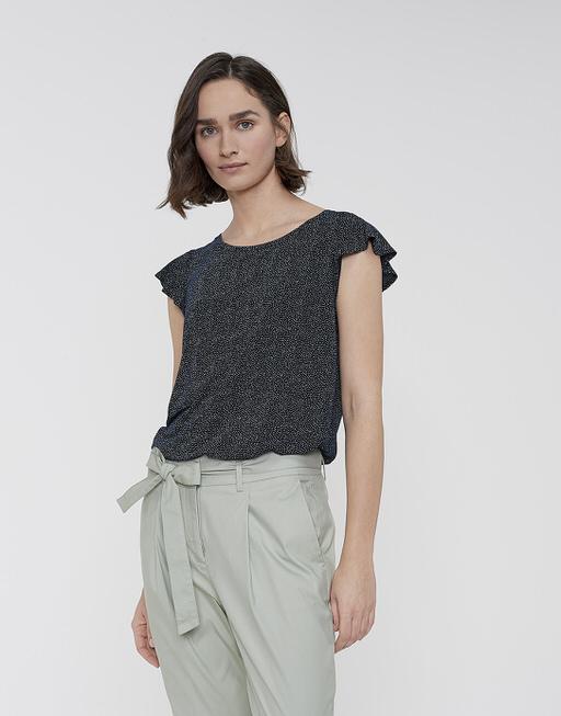 Shirt met print Solliana dot dark night