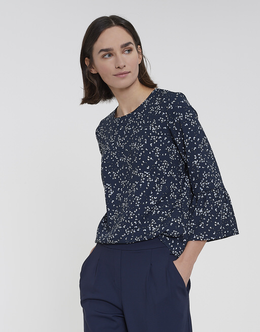 Blouse met print Fusa HS dark night