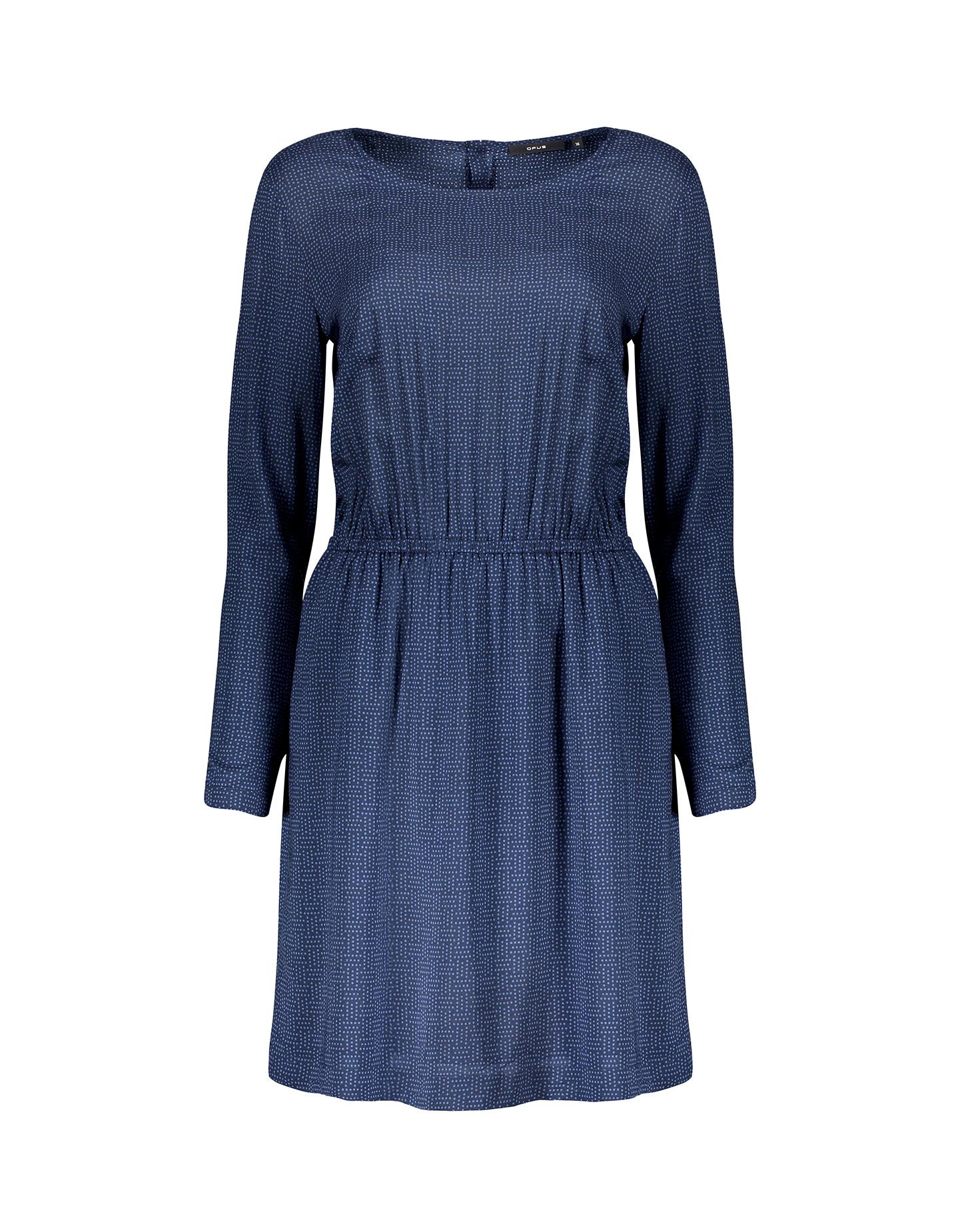 blusenkleid winua dot blau online bestellen opus online shop. Black Bedroom Furniture Sets. Home Design Ideas