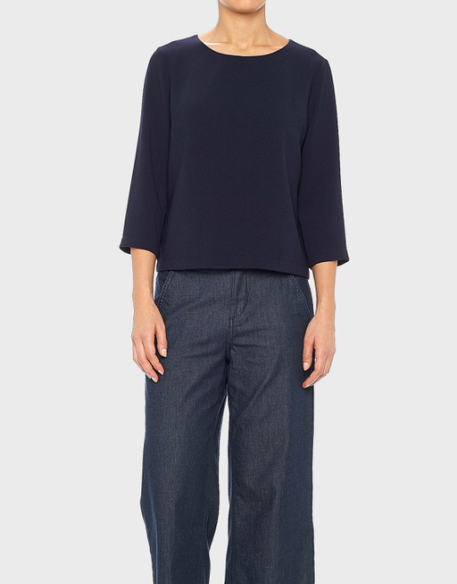 Shirtbluse Falesha crepe HS reliable blue
