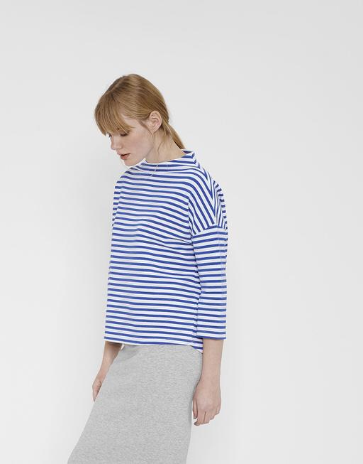 Sweatshirt Gesini stripe blue anemone