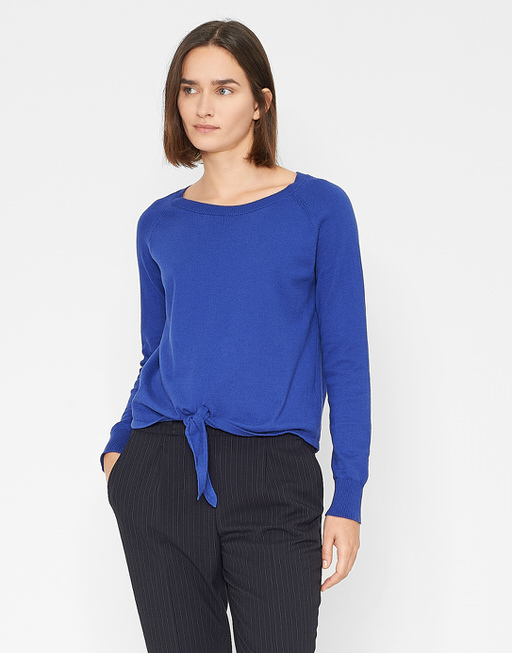 Baumwoll Pullover Paola SP blue anemone