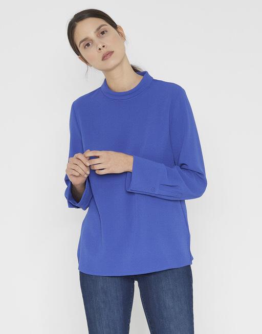 Lange blouse Femilia blue anemone