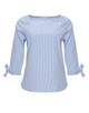 Gestreepte blouse Fazile tender blue