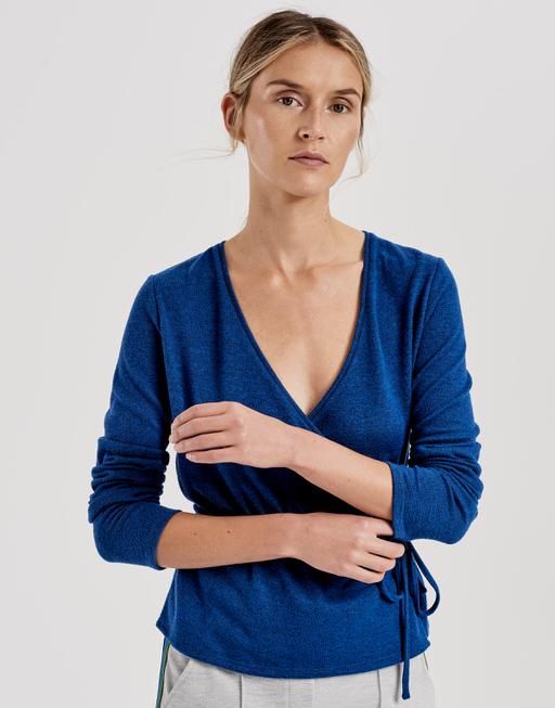Wrap shirt Sendola blue iris