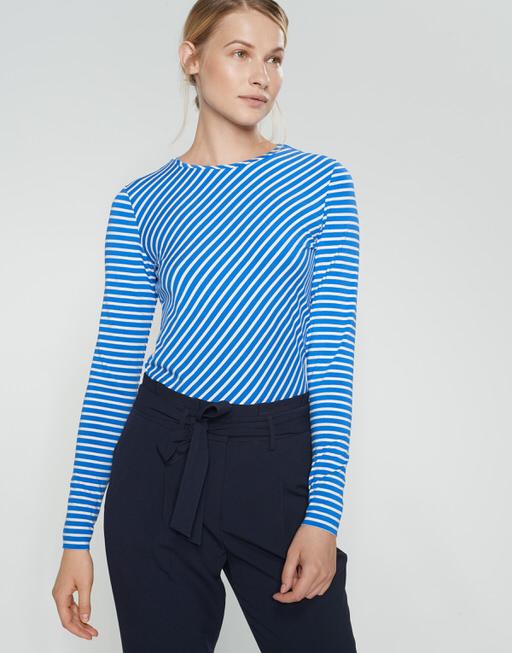 Gestreept shirt Secilia blue iris