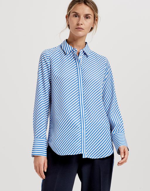 Gestreepte blouse Fastine blue iris