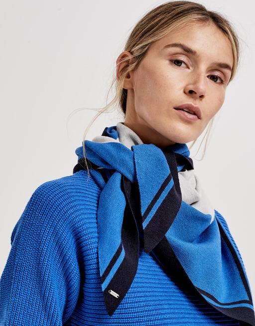 Doek Abiba scarf blue iris