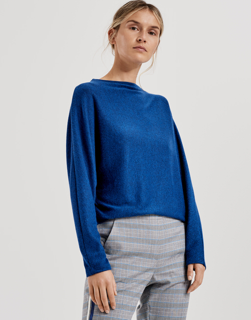 Oversized shirt Sevim blue iris