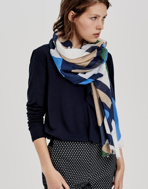 Schal Amoda scarf blue iris