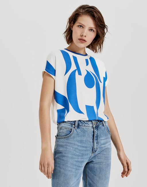 Print-Shirt Sissi print  blue iris