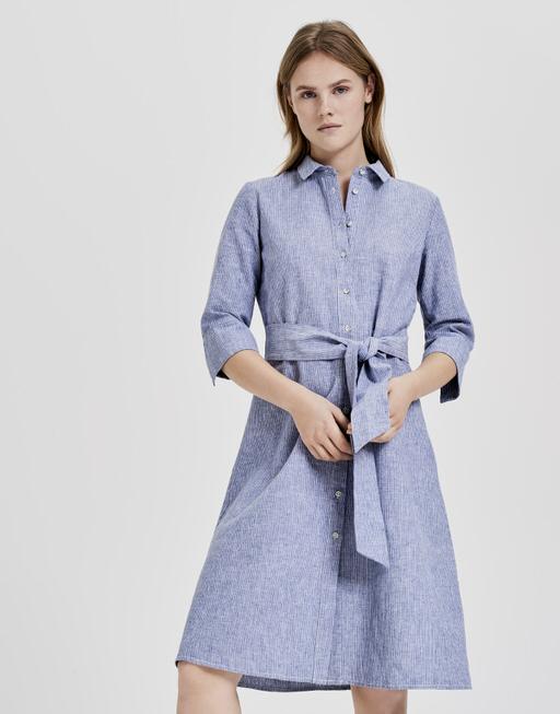 Linnen jurk Wuta dream blue