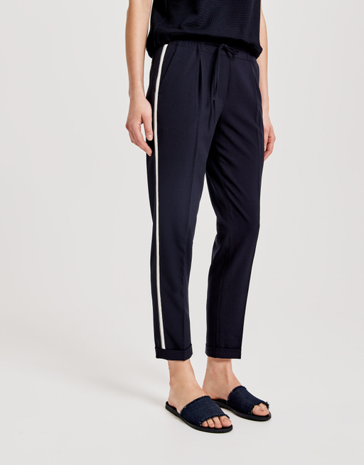 Business trousers Melosa pin simply blue