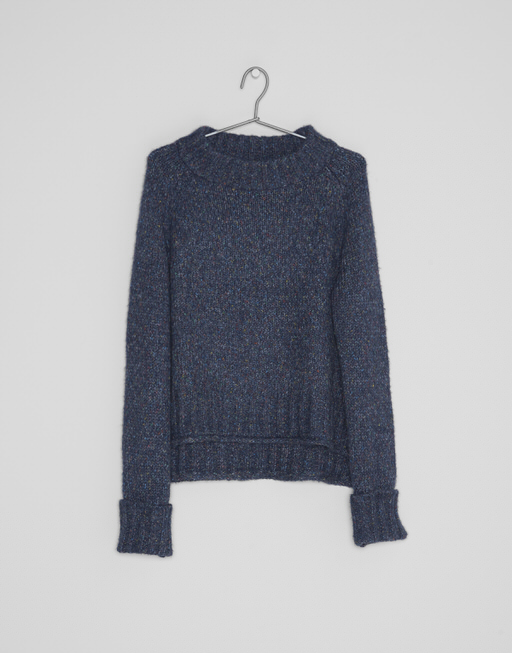 Boxy Pullover Padsha multimelange simply blue