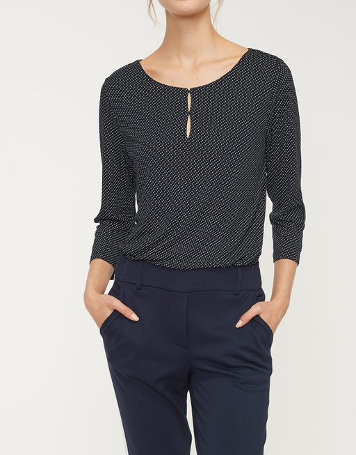 Druckshirt Saskia dot simply blue