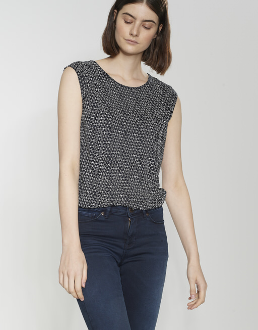 Shirt met print Strolchi triangle simply blue