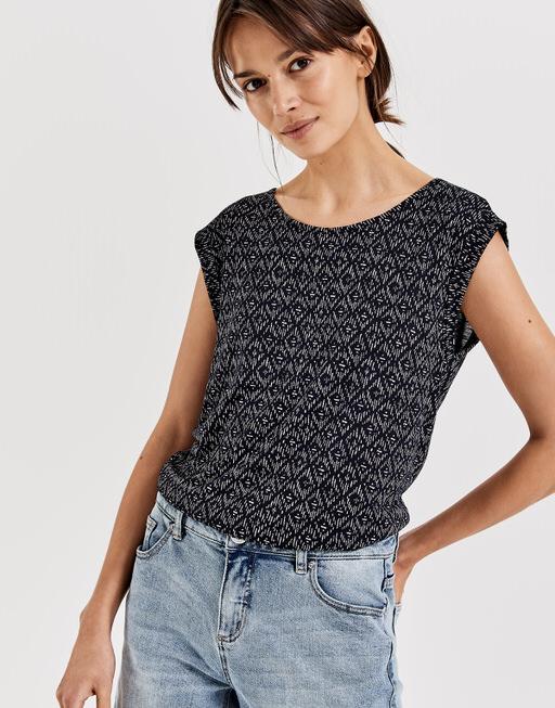Shirt met print Strolchi rhomb simply blue