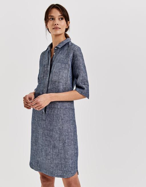 28f33d69490 Linen dress Willmar linen blue by OPUS
