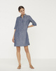 Leinenkleid Willmar linen simply blue