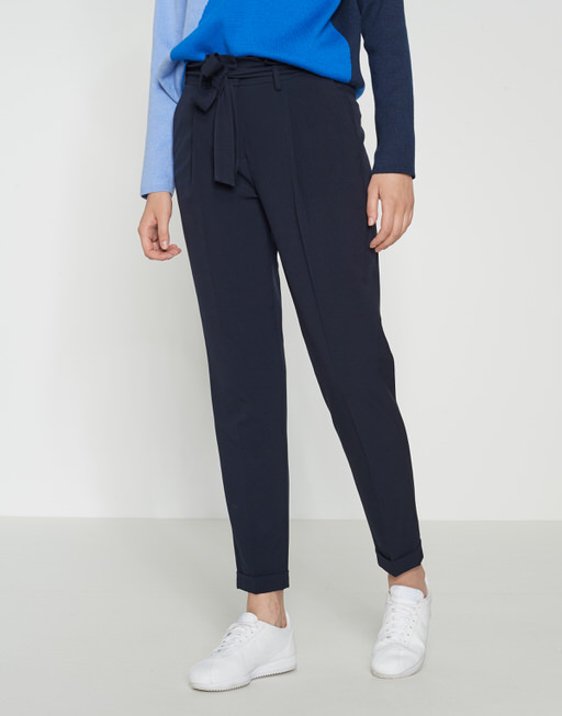 Pleated trousers Enchi simply blue