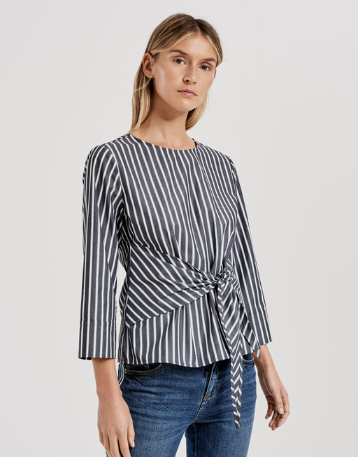 Shirtbluse Flux stripe simply blue
