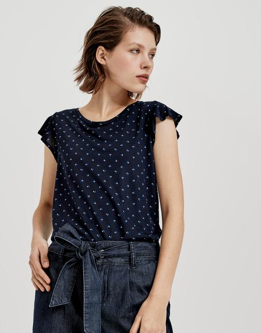 Shirt met ronde hals  Solliana threedots simply blue