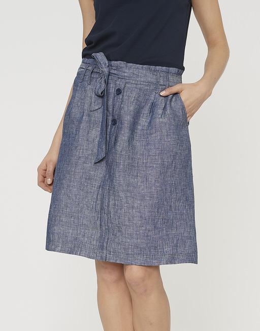 linen skirt Raine simply blue