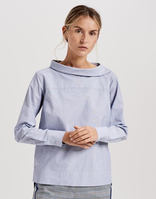 Shirtbluse Feonie solid simply blue
