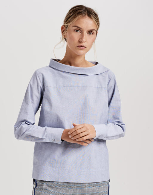 Shirt blouse Feonie solid simply blue