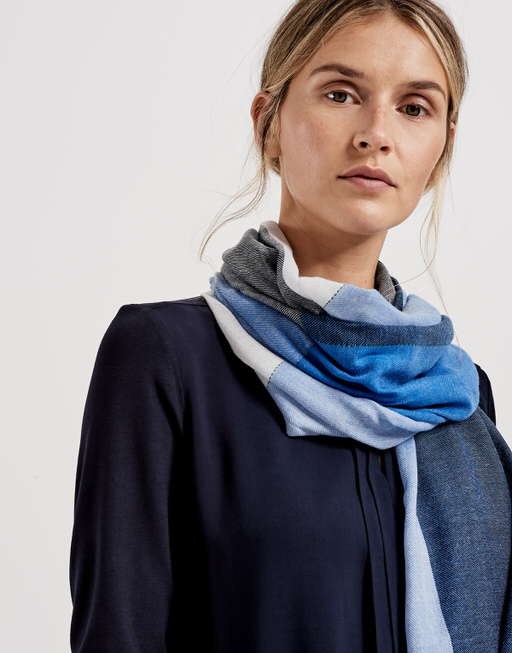 Schal Achecka scarf simply blue