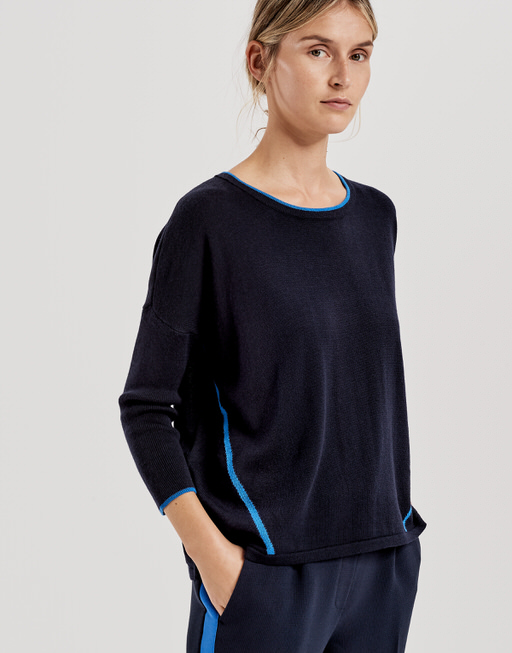 Oversized trui Parbine simply blue