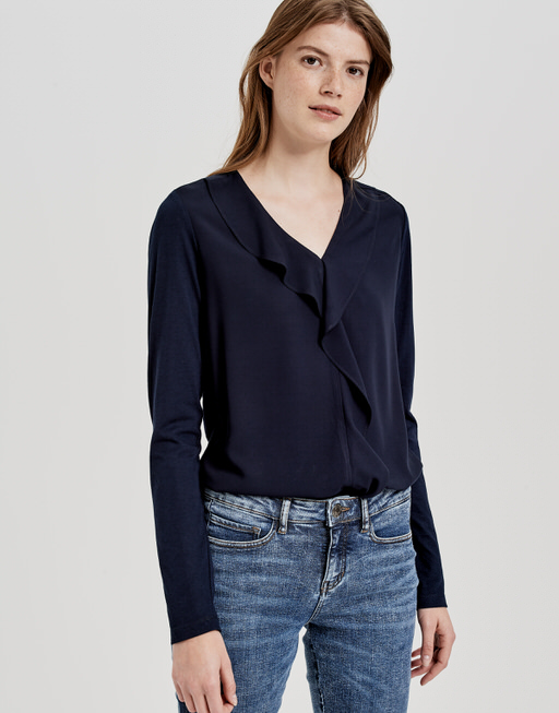 ruched blouse Finalo simply blue