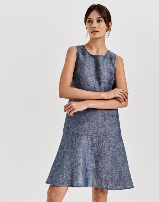 Leinenkleid Woline simply blue