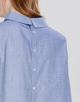 Stehkragenbluse Feline comfort blue