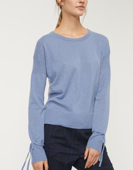 Fijngebreide trui Patta comfort blue