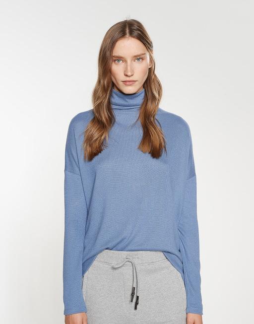 Turtleneck shirt Sola comfort blue
