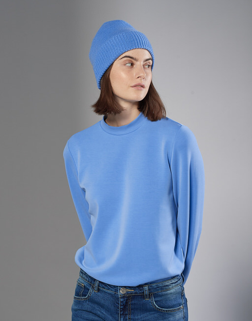Gebreide muts Abina cap new blue