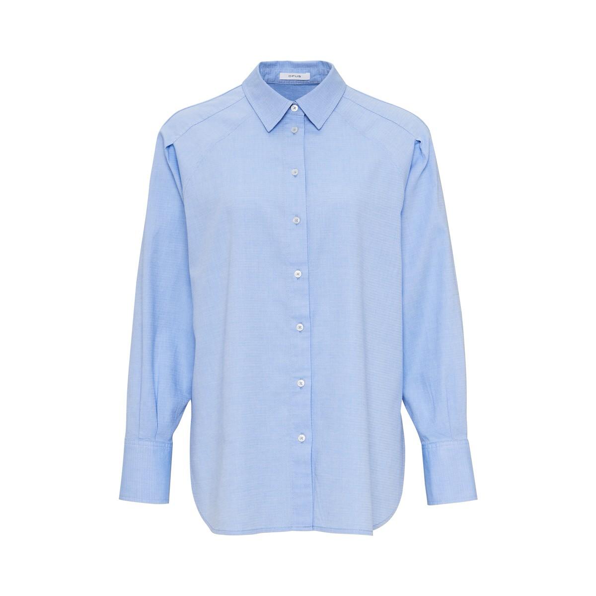 Artikel klicken und genauer betrachten! - Die Oversize Bluse aus einer hochwertigen Baumwoll-Qualität verkörpert den klassischen Hemdblusen-Charakter, inspiriert aus der Herrenmode. Schöne Details sind die Two-Tone-Optik und die doppelte Nahtführung auf der Schulter, die den klassischen Look brechen.   im Online Shop kaufen