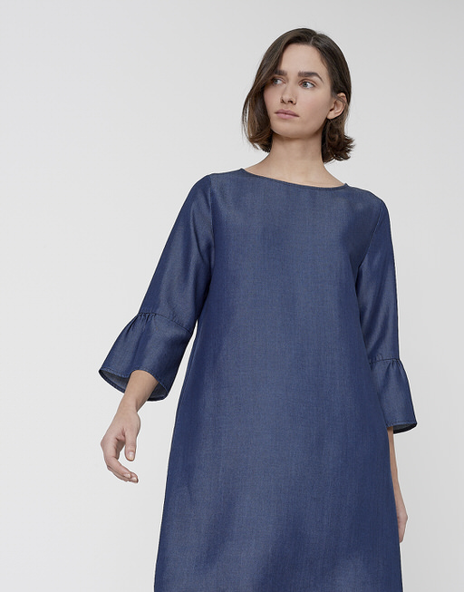 Blousejurk Winy chambray clean blue