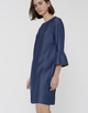 Blusenkleid Winy chambray clean blue