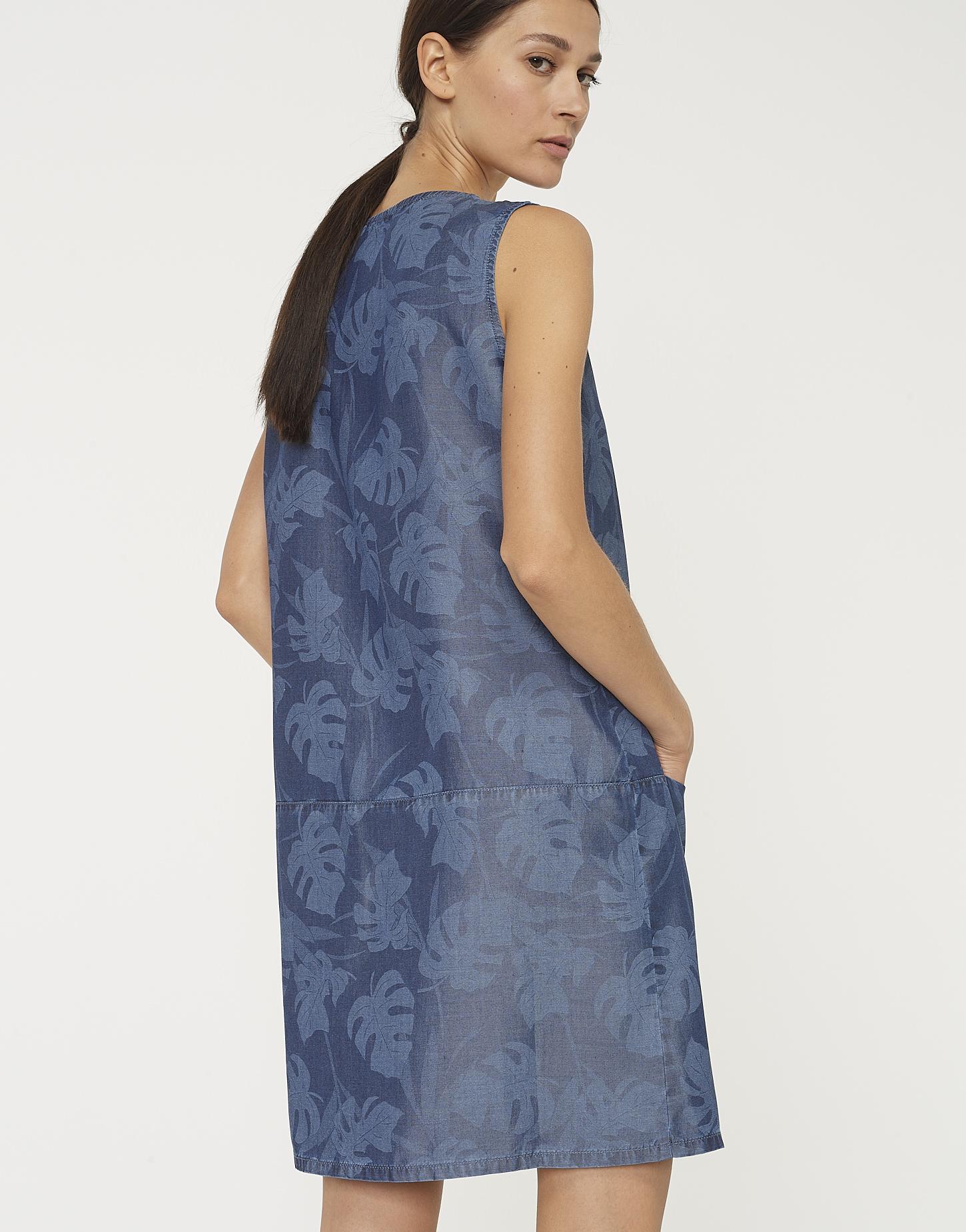Sommerkleid Weronie tropical blau online bestellen | OPUS Online Shop