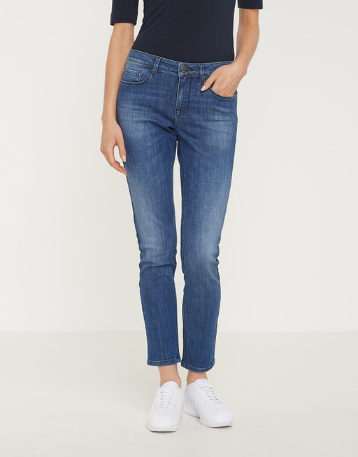 Skinny Jeans Elma cropped soft blue