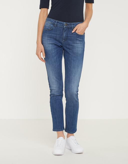 Skinny jeans Elma cropped soft blue