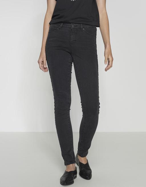 Skinny jeans Elma velvet stripe black washed